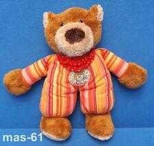 Sigikid knoffel ours teddy animal en peluche rouge 22 cm sommeil personnage Marron