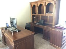 """Hooker Furniture - Cherry 64"""" Executive Office Desk, Credenza and 3 Drawer Sets"""