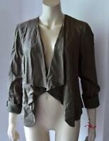 New Look Women's Waterfall Jacket KHAKI GREEN size 12 new with tag #25