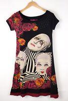 DESIGUAL Women Casual Cirque Du Soleil Midi Dress Size S ASZ1143