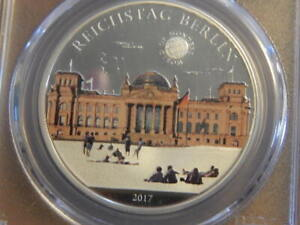 2017 Republic of Palau Reichstag Berlin 1st Day PCGS PR69 DCAM