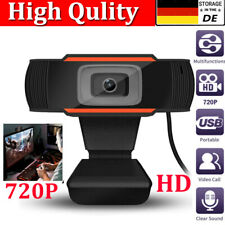 720P HD Webcam HD Kamera USB 2.0  Camera Mit Mikrofon für Desktop Laptop PC DE