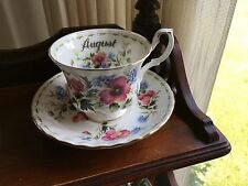 Royal Albert Poppy Flowers of the month August bone china Tea Cup & Saucer