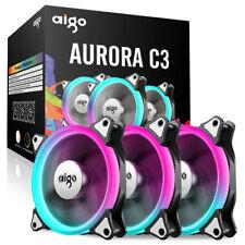 aigo C3 3pcs Computer Case Cooler RGB 120mm Silent, Light/ Fan Speed Adjustable