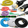 RJ45 Cat7 Network Ethernet Cable Gold Ultra-Thin Flat 10Gbps SSTP LAN Lead LOT