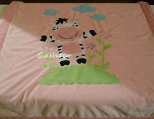 RARE Little Miracles pink baby blanket Zebra flowers soft thick 2 ply Costco