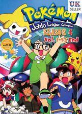ANIME DVD Pokemon Johto League Champions Complete ENG Season 4 Box Set - UK POST