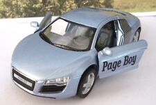 Wedding Day Car Gift Personalised Page Boy Usher Name Toy Blue Audi R8 Present