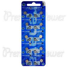 10 x Renata 364 Silver oxide batteries 1.55V SR621W SR60 Watch SR65 0% Mercury