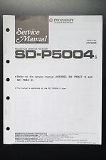 Pioneer SD-P5004 Original Service Manual/Guide/ Wiring Diagram! O1