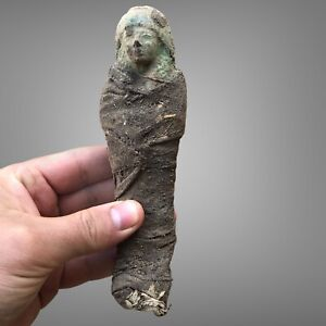RARE Ancient Egyptian Antique Ushabti Shabti MUMMIFIED 2600 BCE