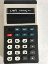 80's Vintage CASIO Memory-8A Calculator, CD-813, Tested and Works
