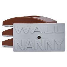 Wall Nanny (4 Pack) Baby Gate Wall Protector - Dark Trim Color - No Safety Ha...