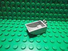Lego 1 Light Gray scoop bulldozer bucket tractor with 2 fingers