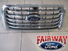 15 thru 17 F-150 OEM Genuine Ford Chrome 5-Bar Grille Grill w/o Camera w/ Emblem