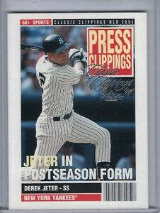 DEREK JETER 2004 Classic Clippings Press Clippings #PC-3 (G4513)