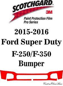 3M Scotchgard Paint Protection Film Pro 2015 2016 Ford Super Duty F-250 / F-350