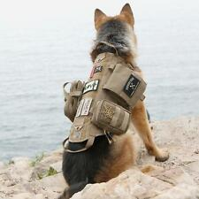 Tactical Dog Molle Vest Harness Training Detachable Pouches Military Police New