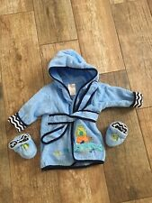 Just Bath By Just Born Bath Robe And Booties 0-9 Months