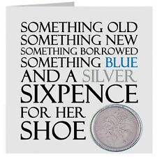 Lucky Sixpence Wedding Keepsake Gift for Bride shoe with gift bag UK FREE POST