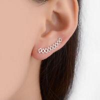 Ear Cuff Geometric Earrings for Women Ear Climbers Ear Crawler Stud Earrings