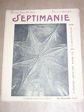 REVUE D'ART SEPTIMANIE N°98-99 / RARE / 1929 / BOIS GRAVES, DESSINS, PHOTOS...