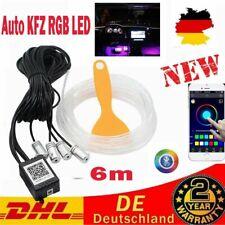 Auto KFZ RGB LED 6m Ambientebeleuchtung Innenraumbeleuchtung Lichtleiste Decor