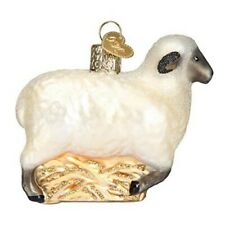 Old World Christmas 12415 Glass Blown Sheep Ornament