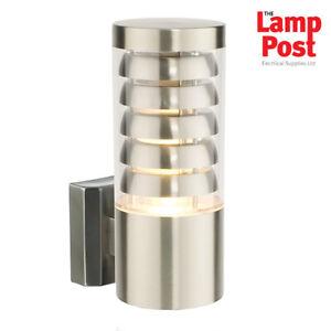 Saxby 13921 Tango Single Wall IP44 9.2W Light Warm White Stainless Steel