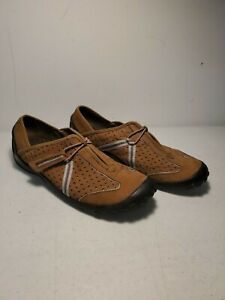 Clarks Privo Womens 10M Brown Suede Leather Comfort Walking Hiking Shoes 79172
