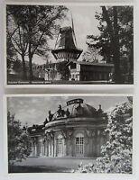 2 Postkarten Lot POTSDAM Brandenburg Schloss Castle Sanssouci Dt Reich Frankatur