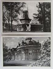 2 Postkarten POTSDAM Brandenburg Schloss Castle Sanssouci Dt. Reich Frankatur