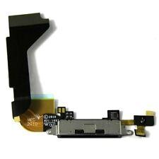 Neue iPhone 4S Schwarze Ladeanschluss Dockverbindungsstückflexkabel mit Mikrofon