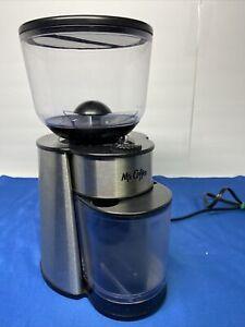 Mr. Coffee BVMC-BMH23-RB Automatic Burr Mill Grinder, Silver