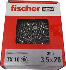 300 fischer Edelstahl Schrauben 3,5 x 20 TX 10 A2F Spanplattenschrauben Torx