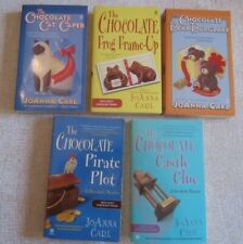 Lot of 5 JoAnna Carl Chocoholic series: Chocolate Cat, Frog, Bear, Pirate,Castle