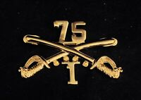 """☀️US Army 1/75 75th Cav Cavalry Regiment Crossed Saber Stetson Hat Pin, Large 2"""""""