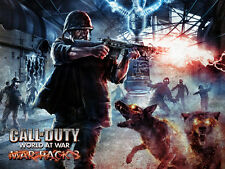 NAZI ZOMBIES DER REISE COD LAMINATED A4 MINI POSTER BLACK OPS