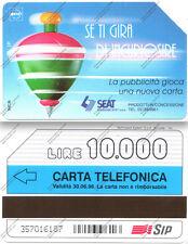 SCHEDA TELEFONICA PHONE CARD - SIP Se ti gira di incuriosire -  Lire 10.000