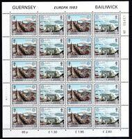 Guernsey1983 postfrisch Bogen Satz MiNr.265-268  Europa