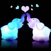 Eg _7 Couleur Changeante Éléphant LED Lampe Veilleuse Enfants Chambre Déco Fa