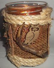 Teelicht Windlicht für Kerze oder Lichtekette -handarbeit mit Birkenrinde