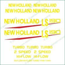 NEW HOLLAND LS 190 Die Cut High Cast Premium Vinyl Decals Stickers Kit Set