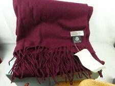 Gorgeous Debenhams Woolmark 100% wool shawl / wrap / scarf, NEW nwt, Plum.