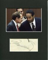 Alan Dershowitz Famous OJ Simpson Lawyer Rare Signed Autograph Photo Display