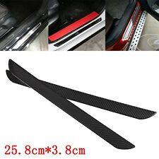 2xCarbon Fiber Car Scuff Plate Door Sill Cover Panel Step Protector Guard 25.8cm