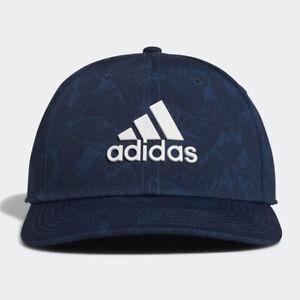 ADIDAS GOLF 2021 MEN'S TOUR PRINT HAT CAP CREW NAVY SIZE: L/XL GM7503 NEW! 20806