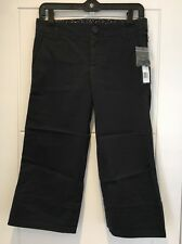 Marc Jacobs Cropped Capri Trousers Jet Blue Black US 2 UK 6 S Small New BNWT