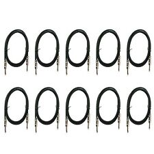 """10 Guitar Instrument Music Cables Cord Jack 1/4"""" mono patch lead 6' FT foot feet"""