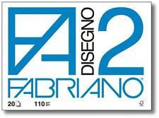 05 Album da disegno FABRIANO F2 110gr. 33x48cm. 10Fogli - RUVIDO 8001348107255